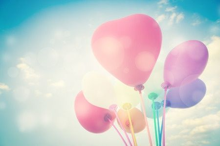 25475662 - balloons background for valentines or seasonal holidays