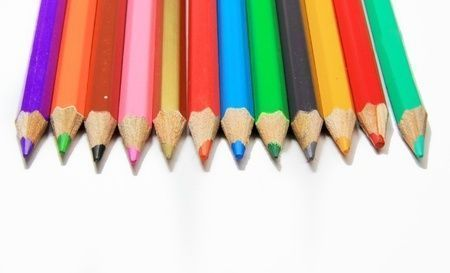 20866403 - color pencils on a white background